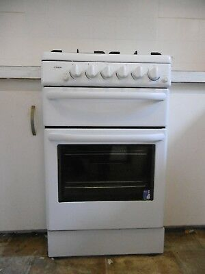 Chef 54cm Natural Gas Upright Cooktop - Electric Oven 80 Litres and Grill- White
