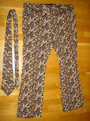 Disco Hippie 1960's Men's Bell Bottom Pants By Bucci with Patented Matching Tie