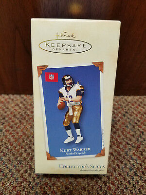Hallmark Keepsake 2002 KURT WARNER Football Legends Ornament Collector's Series