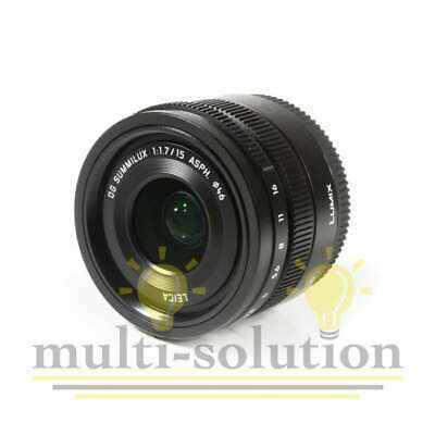 NEUF Panasonic Leica DG Summilux 15mm f/1.7 ASPH. Lens (Black)