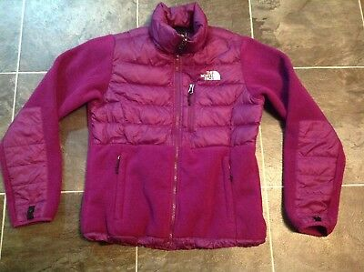 Woman's North Face Fleece Puffer Small Jacket Purple/Pink 550