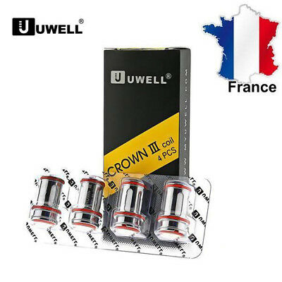 4 Pack Résistances Uwell Crown III Replace Coils 0.4ohm Authentic- Ship Same Day
