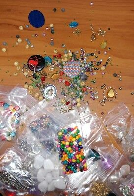 Huge Wholesale Lot Of Jewelry Making Beads Wide Variety 25 Bags