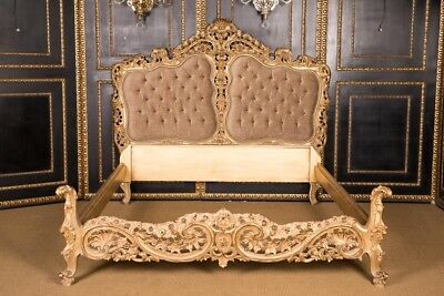 Majestic Double Bed in the Style of the Louis Quinze Style Residential Ready