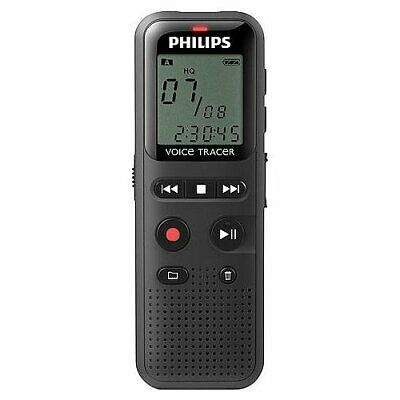 "Philips Voice Tracer 1150 Digital Recorder 4GB 1.3"" LCD Black DVT1150/00"