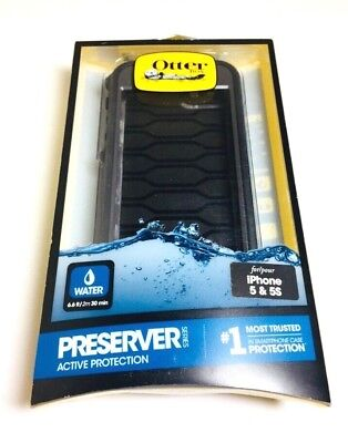 Otterbox Preserver Series Waterproof Case Apple iPhone 5 /5s/ SE in CARBON BLACK