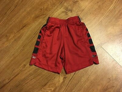 Boys Toddler Nike Dri-Fit Elite Shorts Size 2T Running Athletic Red Basketball