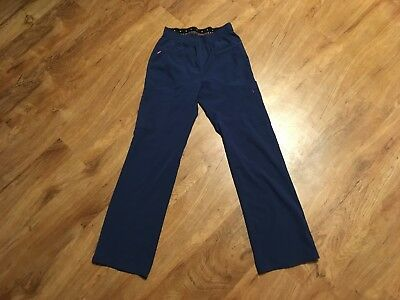 HEARTSOUL Women's SCRUB Pants Bottoms Size S Small Blue Medical Nurse Cargo