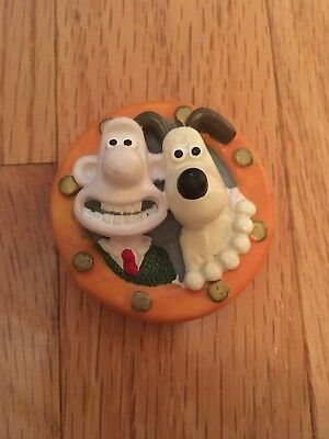 WALLACE & GROMIT FRIDGE MAGNET 3-D Aardman