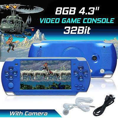 Portable PSP Handheld Game Console 4.3? 32bit 8GB 10000+Games Built-In +Camera