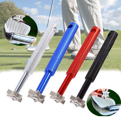 Golf UV Groove Edge Iron Wedge Club Sharpener Regrooving Cleaner Cleaning A