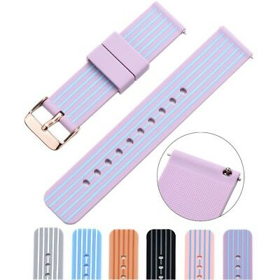 (22mm, purple/blue) - Cumeou Silicone Replacement Quick Release Watch Band