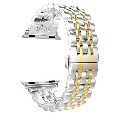 (Gold - 42mm) - Apple Watch Band, Aokay Stainless Steel Metal Replacement Band