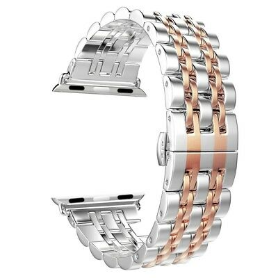 (Rose Gold - 42mm) - Apple Watch Band, Aokay Stainless Steel Metal Replacement