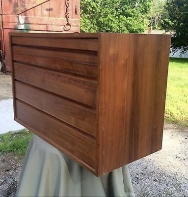 Mid Century Rosewood Wall 4 Chest Of Drawers Poul Cadovius for Cado Danish Retro
