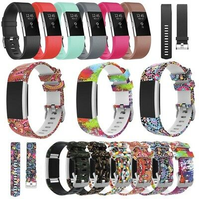 Soft Silicone Replacement Spare Watch Band Strap for Fitbit Charge 2 UK Stock