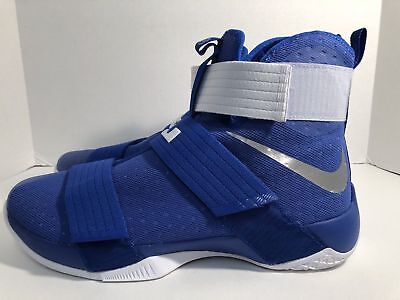 4f2a9c44be1 NEW Nike LeBron X Soldier 10 Royal Blue Basketball Shoes 856489-441 Mens sz  15.5