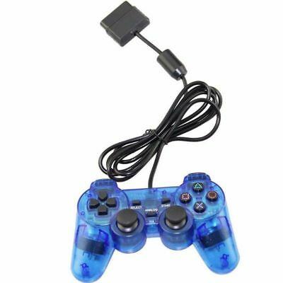 HOT Blue Twin Shock Game Controller Joypad Pad for Sony PS2 Playstation 2