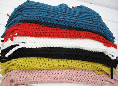 Baby Kids Toddler Boys Girls Knit Wool Soft Infinity Scarf Neck Long Scarf Shawl