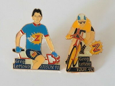 2 pin's TOUR de FRANCE CYCLISTE - Greg LEMOND -