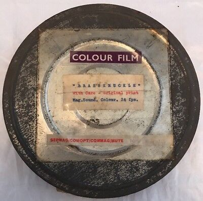 "Interesting Vintage 16mm Cine Movie Film Reel ""Brassknuckle"" Original Print"
