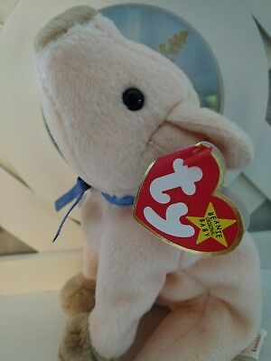 TY Beanie Baby ~ KNUCKLES Pig ~ NEW with Tags Retired with PE Pellets