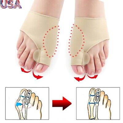 US Silicone Gel Bunion Toe Protector Straightener Corrector Spreader Splint Pads
