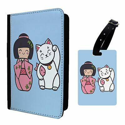 S1575 Anime Happy Cactus Luggage Tag /&//OR Passport Holder