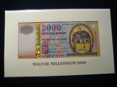 Hungarian Banknote 2000 Forint 2000 Millennium Commemorative gift wrapping Rare