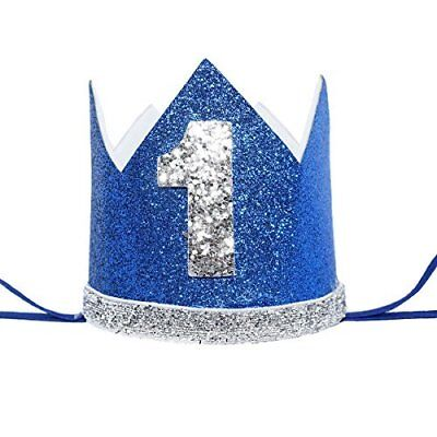 Maticr Glitter Baby Boy First Birthday Crown Number 1 Headband Little Prince
