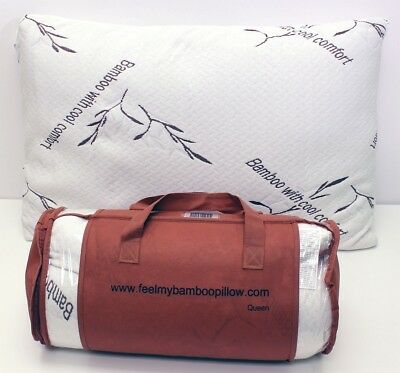 Bamboo Pillow with Cool Comfort - Queen. Feel My bamboo pillow. Brand New