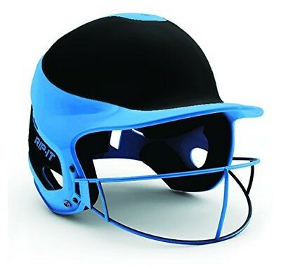 (Small/Medium, Away Light Blue) - Rip-It Vision Pro Away Softball Batting Helmet