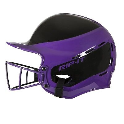 (Extra Small, Away Purple) - Rip-It Vision Pro Away Softball Batting Helmet