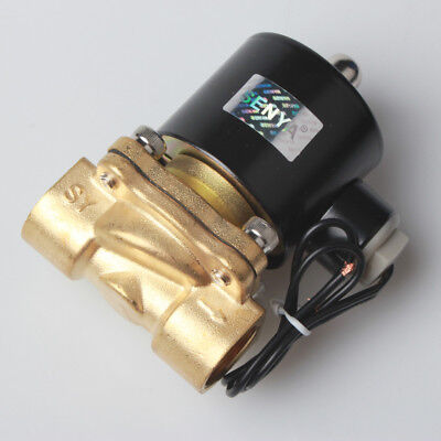 "1/2"" Brass Electric Solenoid Valve 110-120V AC Water Air Normally Closed N/C -XU"