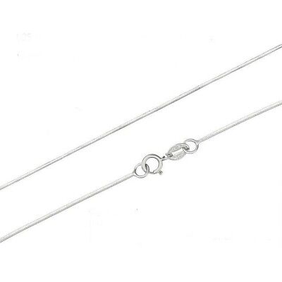 925 Solid Sterling Silver 1mm Snake Chain Necklace Wholesale Bulk Price