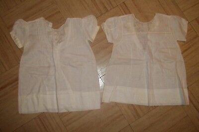 Vintage Tiny Little Cotton Baby Dresses with Tiny Embroidery Work and Tucks
