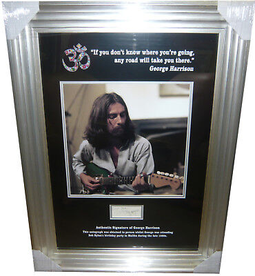 George Harrison 1980s SIGNED AUTOGRAPH With Signing Details The Beatles AFTAL
