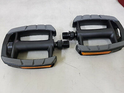 VP COMPONENTS Pair pedals classic reflectors with gum anti slip bicycle