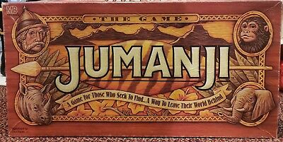 Jumanji Adventure Board Game Milton Bradley TriStar 1995 Counted and Complete