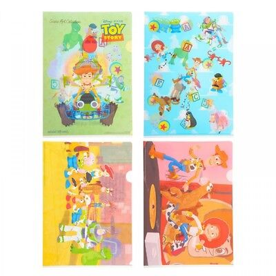 New Disney Store Japan Clear File Toy Story Pixar Collection From Japan F/S