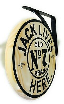 "Jack Lives Here 12"" Diameter Double Sided Pub Sign"