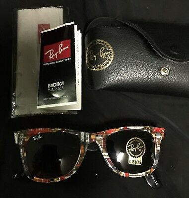 """RARE VINTAGE RAY-BAN """"MUSIC"""" SUNGLASSES SERIES #9 ATTENTION-GETTERS! NEW w/CASE"""