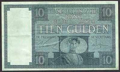 Netherlands 10 Gulden 1924 Zeeuws Meisje False Forgery Falsification