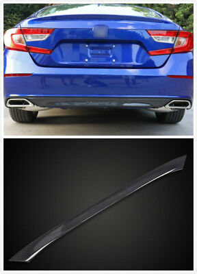 ABS Carbon Fiber Style Rear Bumper Cover Moulding Trim For Honda Accord 2018