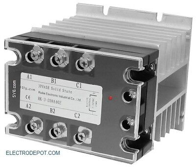 Silent Lighting Contactor 3 Pole 40Amp, 120V Coil, Motor 30A No Click Noise 40A