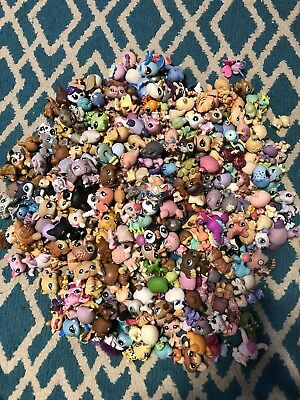 LITTLEST PET SHOP LOT OF 10 pcs RANDOM PICK LPS ANIMALS LOOSE USED FIGURES.