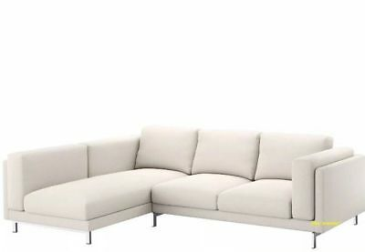 Remarkable Ikea Cover Nockeby 3 Seat Sofa With Left Chaise Slipcover Ibusinesslaw Wood Chair Design Ideas Ibusinesslaworg