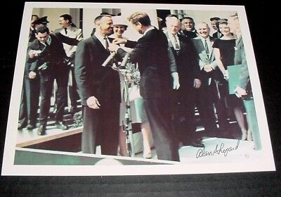 Autographed ALAN SHEPARD Photo - With President John F Kennedy - Hand Signed !!!
