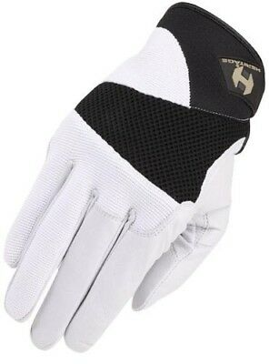 (10, White/Black) - Heritage Tackified Polo Glove. Heritage Products