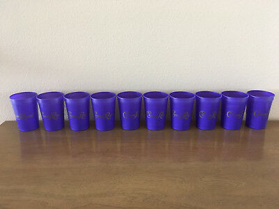 Crown-Royal-Purple-Reusable-Plastic-Drinking-Cups-12oz-Set-of-10 NEW UNUSED